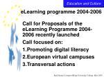 elearning programme 2004 2006