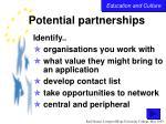 potential partnerships