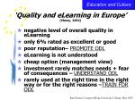 quality and elearning in europe massy 2002