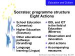 socrates programme structure eight actions