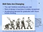 skill sets are changing