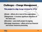 challenges change management