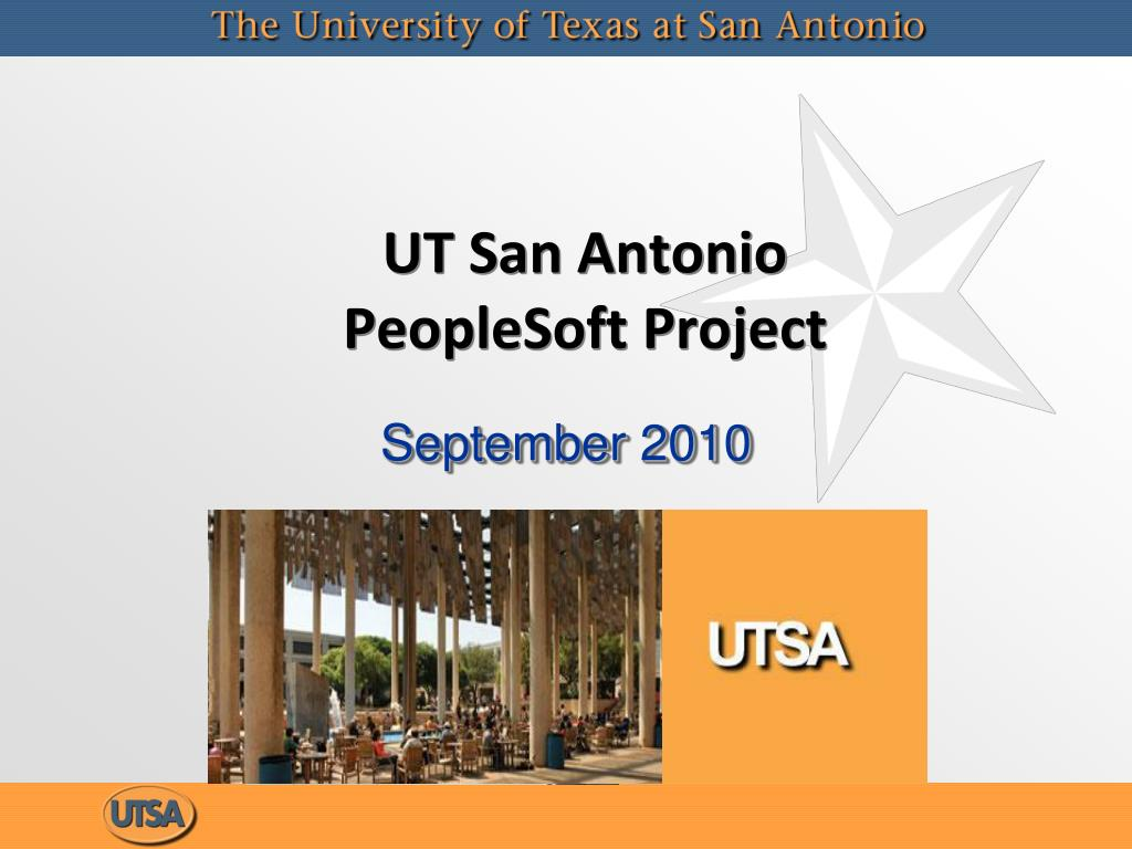 ut san antonio peoplesoft project l.