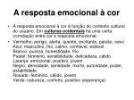 a resposta emocional cor