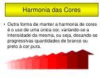 harmonia das cores