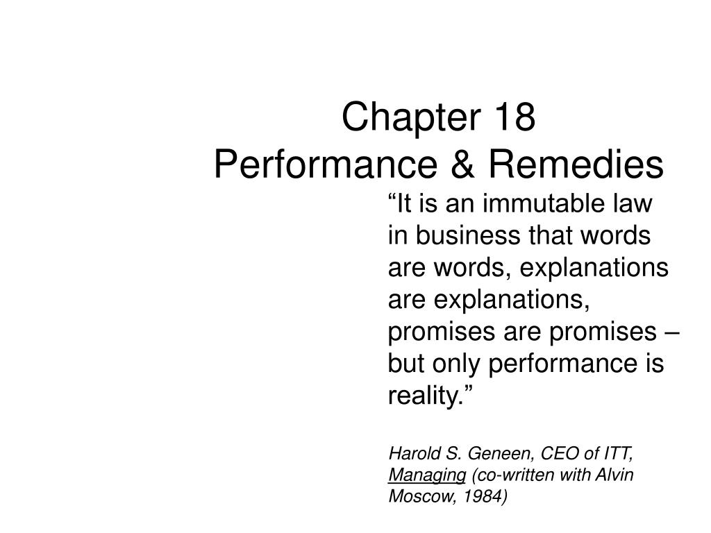 chapter 18 performance remedies l.