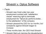 silvestri v optus software