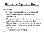 silvestri v optus software11