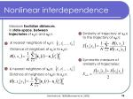 nonlinear interdependence
