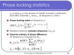 phase locking statistics