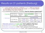 results on 21 patients freiburg