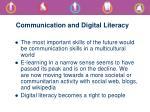 communication and digital literacy