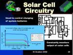 solar cell circuitry