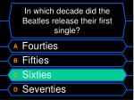 in which decade did the beatles release their first single20