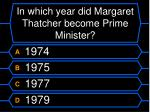 in which year did margaret thatcher become prime minister