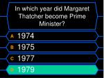 in which year did margaret thatcher become prime minister52