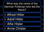 what was the name of the german politician who led the nazis