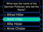 what was the name of the german politician who led the nazis16