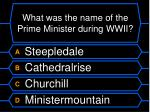 what was the name of the prime minister during wwii