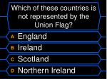 which of these countries is not represented by the union flag
