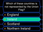 which of these countries is not represented by the union flag56