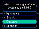 which of these giants was beaten by the nhs40