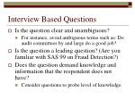 interview based questions