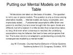putting our mental models on the table