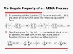 martingale property of an arma process