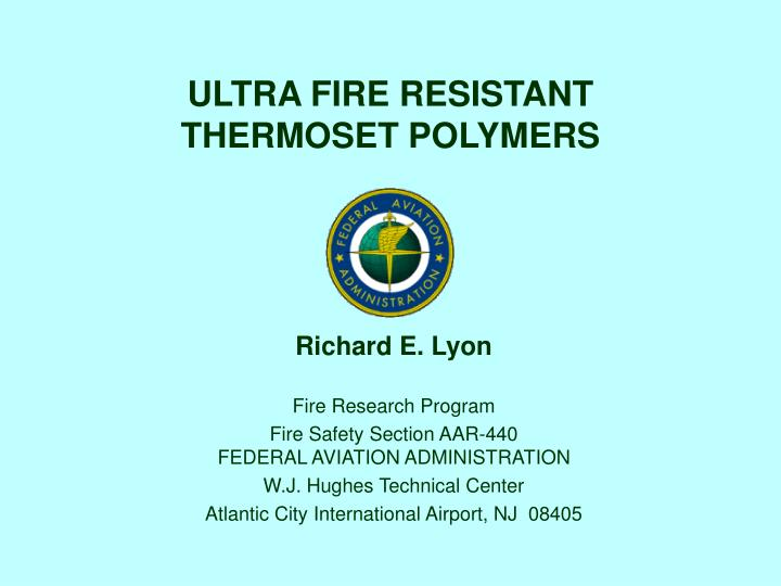 ultra fire resistant thermoset polymers n.