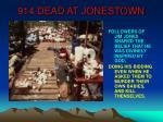 914 dead at jonestown