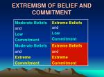 extremism of belief and commitment