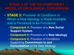 stage 2 of the six component model of ideological conversion