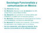 sociolog a funcionalista y comunicaci n en m xico
