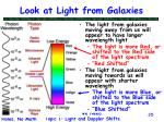 look at light from galaxies