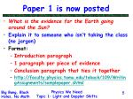 paper 1 is now posted