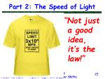 part 2 the speed of light