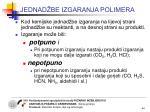 jednad be izgaranja polimera