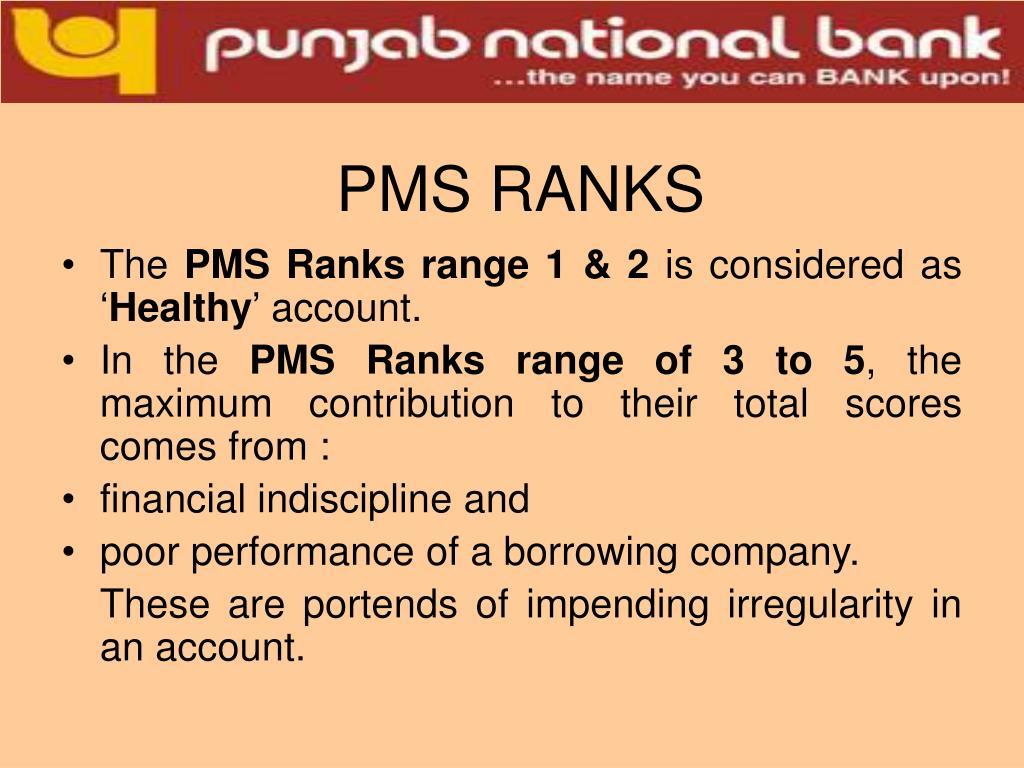 PMS RANKS