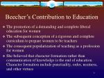 beecher s contribution to education
