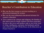 beecher s contribution to education10