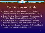 more resources on beecher12