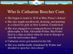 who is catharine beecher cont