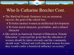 who is catharine beecher cont4