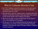 who is catharine beecher cont5