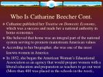 who is catharine beecher cont6