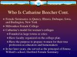 who is catharine beecher cont7