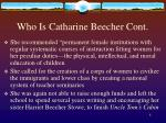who is catharine beecher cont8
