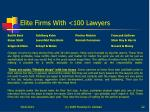 elite firms with 100 lawyers
