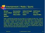 entertainment media sports